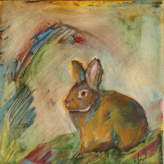 Rabbit painting by Kit Jagoda