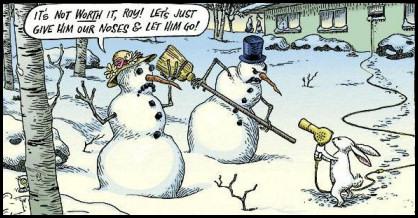 SnowmanAndRabbitCartoon
