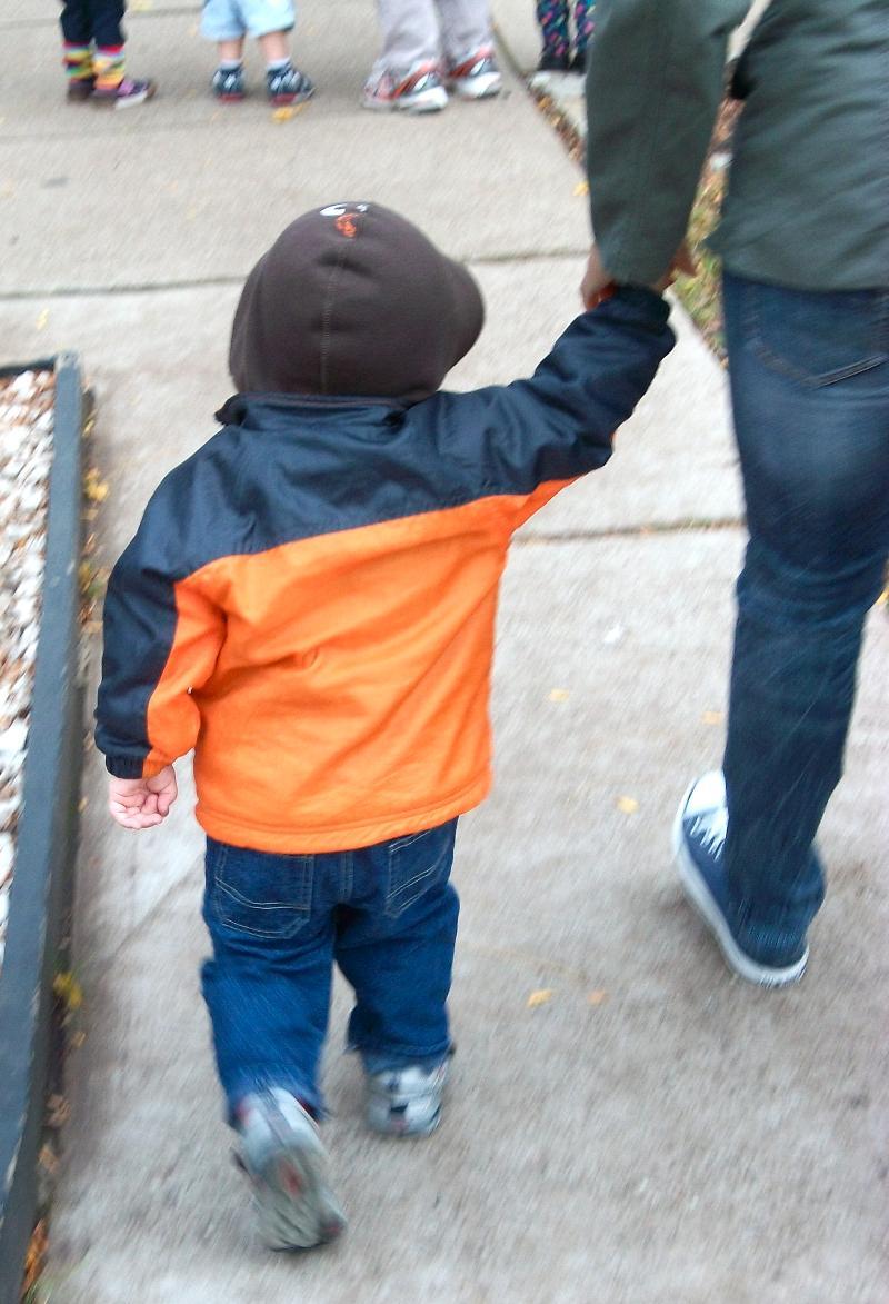Child on walk