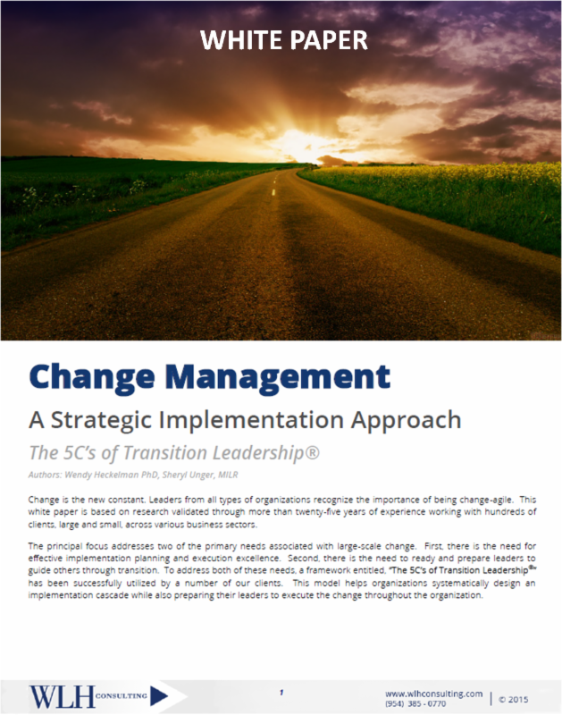 The 5Cs of Transition Leadership White Paper
