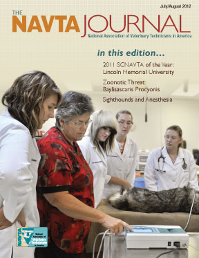 Corrected NAVTA journal cover July August 2012