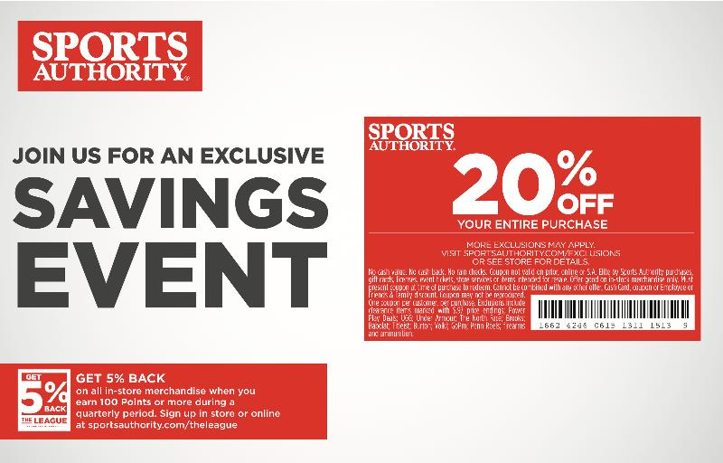 August Sports Authority offer