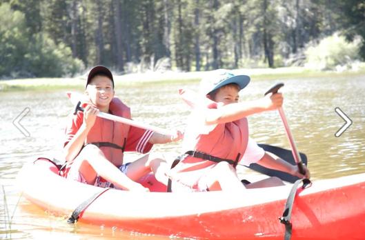 Isaiah & otto Canoeing