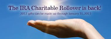 IRA Charitable Rollover 2013