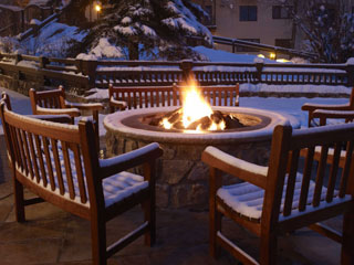 how to make a fire pit in the snow