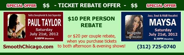 Ticket Rebate
