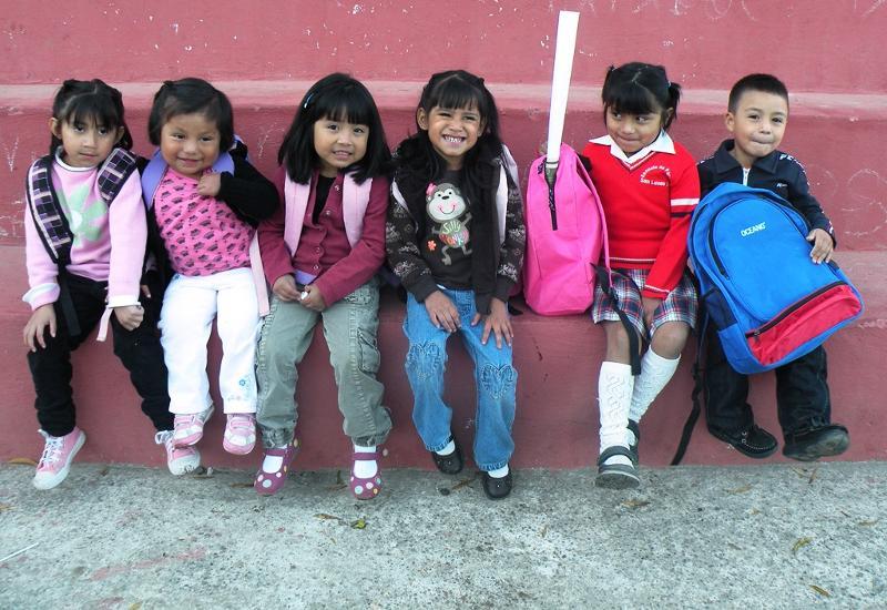 Preschoolers first day of school