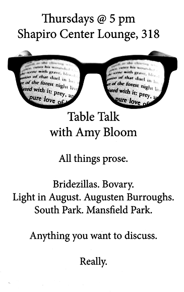 Table Talk with Amy Bloom
