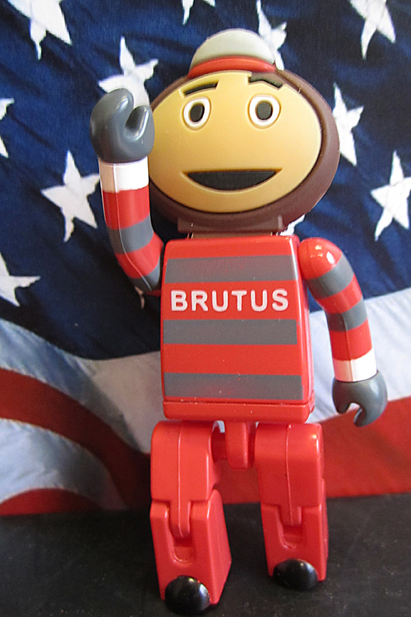 Brutus with flag