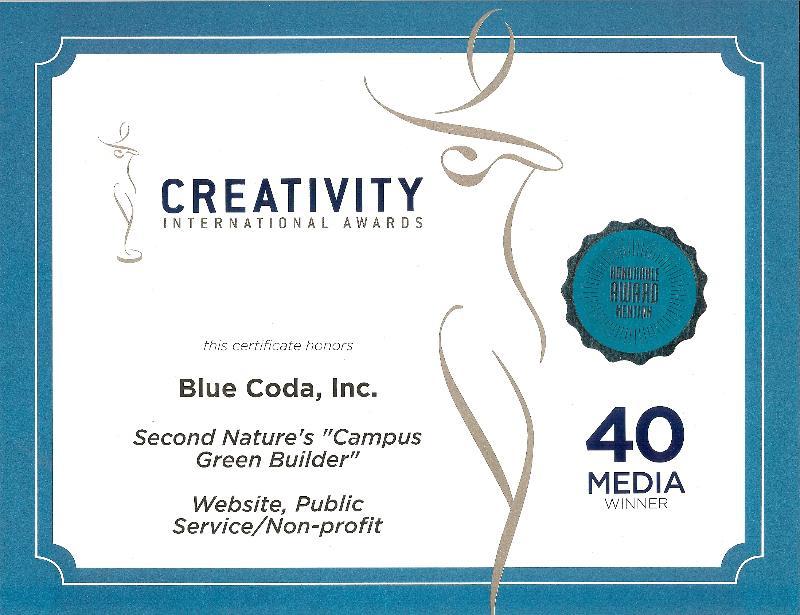 CGB-Blue Coda award