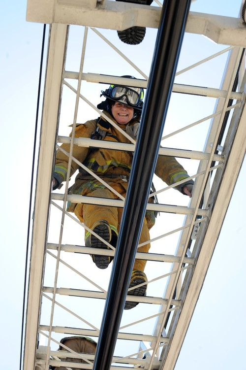 Bonnie on Ladder