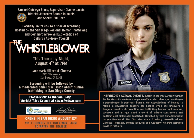 Whistleblower Film Invite