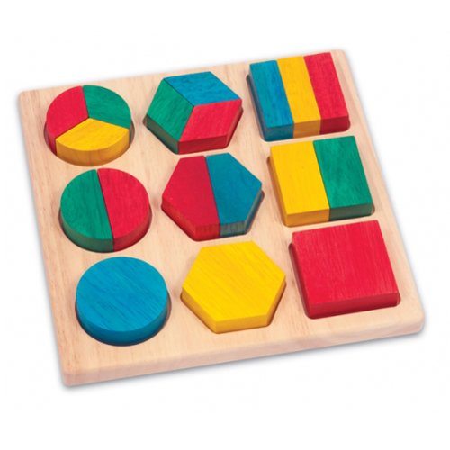 Guidecraft's Fraction Action Board available at Heirloom Wooden Toys