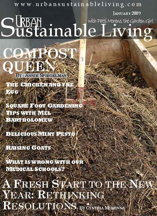 Urban Sustainable Living January Cover