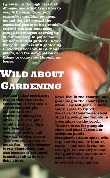 Wild about Gardening one