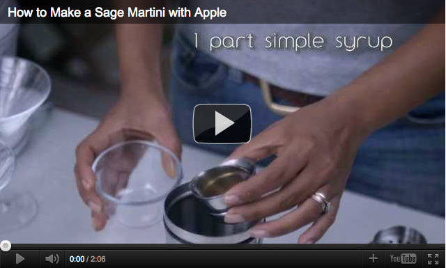 How to Make a Sage Martini with Apple Video