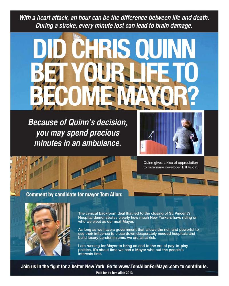 Quinn abandons constituents