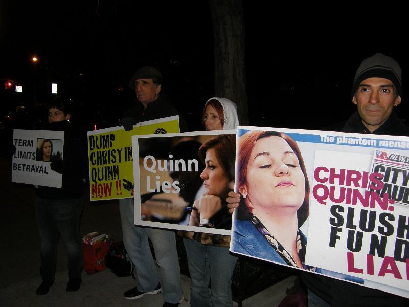 Quinn protest