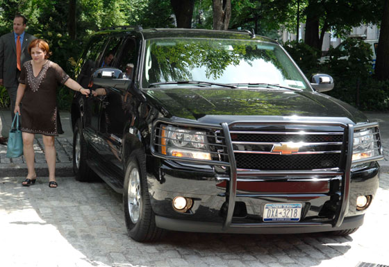 Quinn's city-owned SUV that chauffeurs her to campaign events