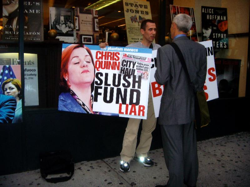 Protest against Christine Quinn