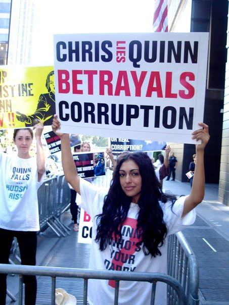 Christine Quinn protest
