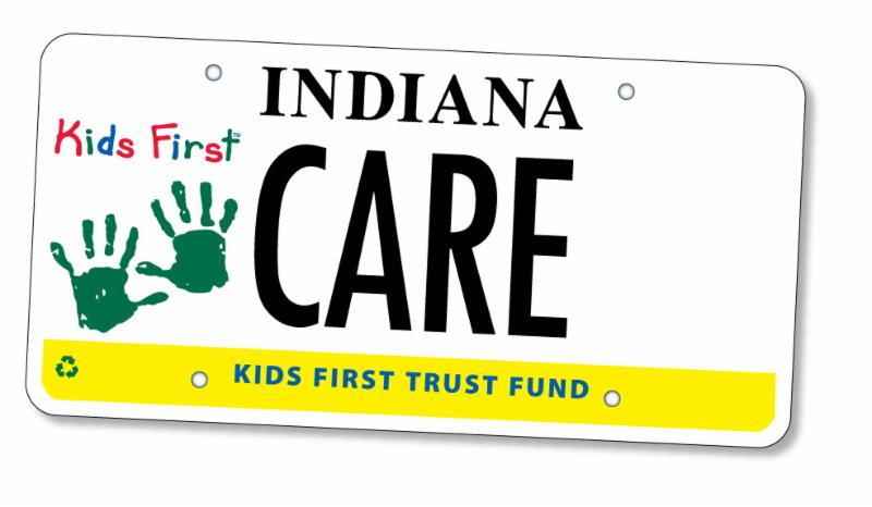 Kids First license plate