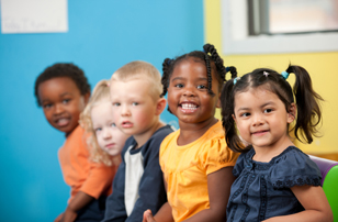 preschoolers sitting together
