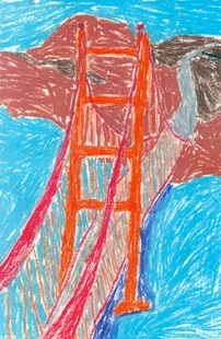 GG bridge drawing by 5th grader