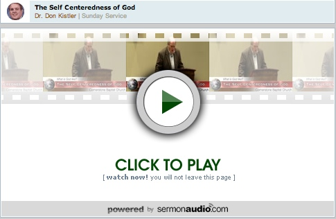 God's Self Centeredness By Dr  Don Kistler and Other Free Reformed