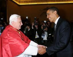 Obama Hand Shake With Pope