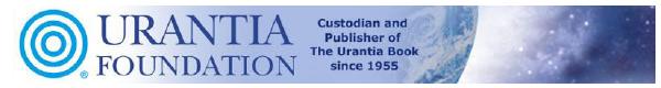 Urantia Foundation Header
