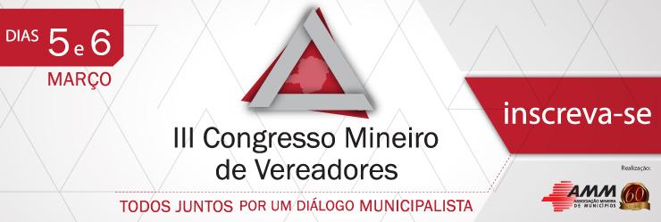 Convite - III Congresso Mineiro de Vereadores