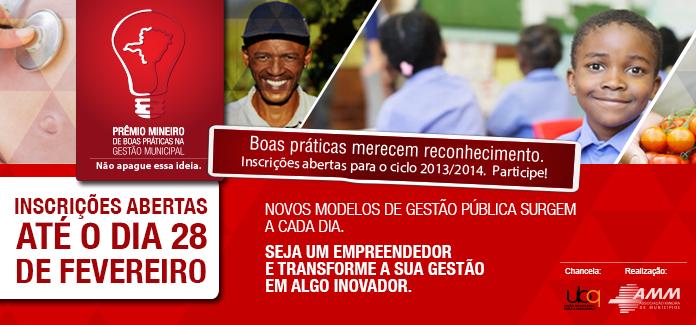 Participe! Prêmio Mineiro de Boas Práticas na Gestão Municipal
