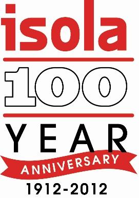 ISOLA 100 year logo