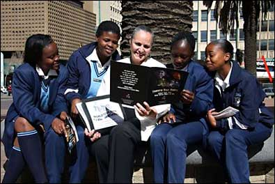 Students in S Africa with Dr. Shuttleworth