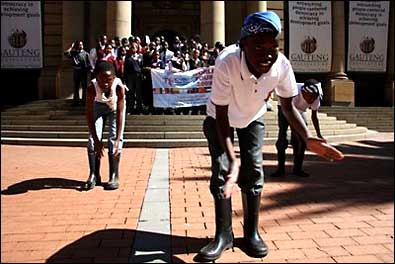 South African gumboot dancers