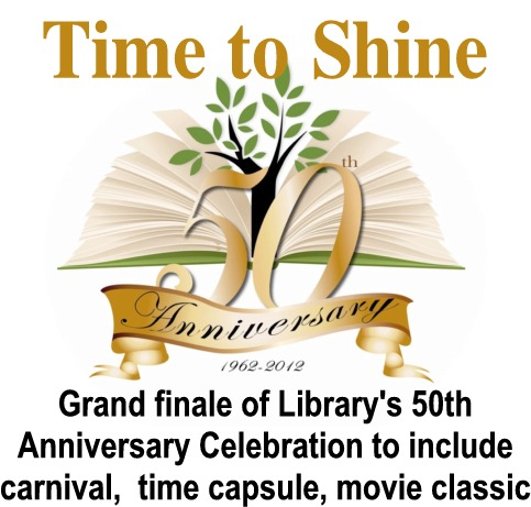 Finale of Library celebration to include carnival,  time capsule, outdoor movie classic