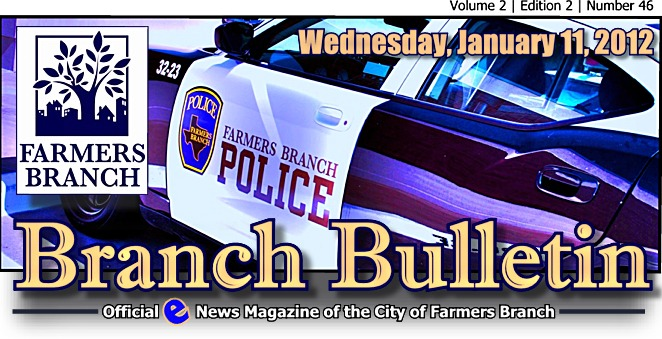 BRANCH BULLETIN: E-News from Farmers Branch