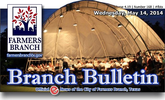 BRANCH BULLETIN - eNews from Farmers Branch