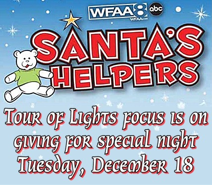 Santa's Helpers sets special night at Christmas Tour of Lights