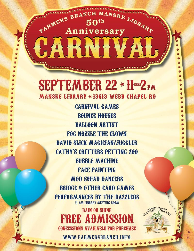 Library carnival flyer