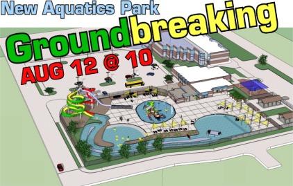 Aquatics Center groundbreaking