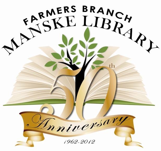 Manske Library 50th Anniversary Logo