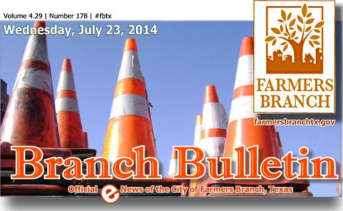 BRANCH BULLETIN ~ eNews from Farmers Branch