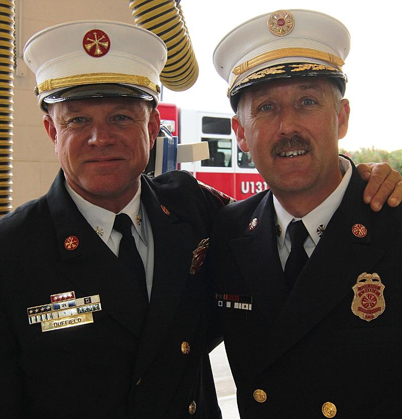 Retiring Farmers Branch Fire Department Battalion Chief Jerry Duffield