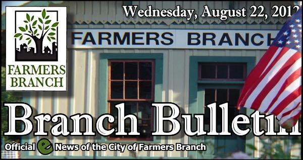 BRANCH BULLETIN: Enews from Farmers Branch