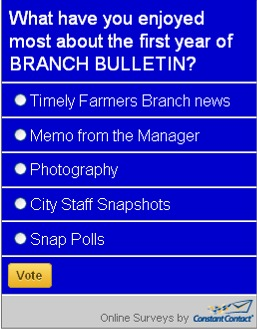 Snap Poll: First Year of Branch Bulletin