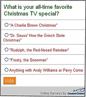 Favorite TV Special Snap Poll