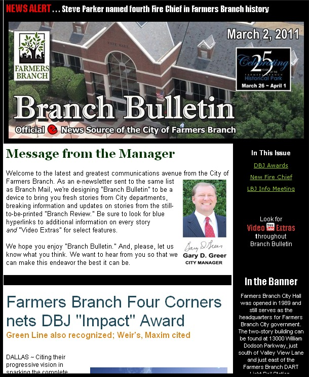 First edition of Branch Bulletin