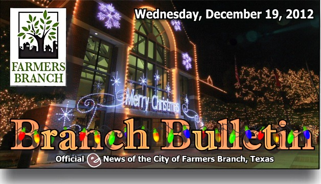 BRANCH BULLETIN: eNews from Farmers Branch